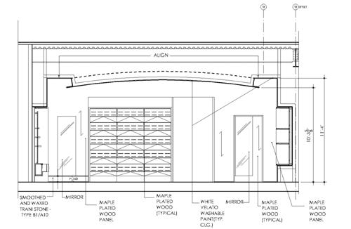 False Ceiling Plan Elevation Section : Elevations section gaddis architect
